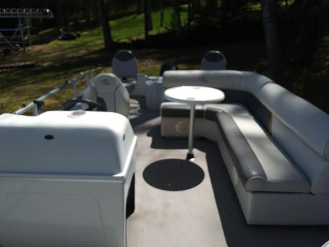 For sale 2002 pontoon boat with 50hp Mercury motor in Eagle
