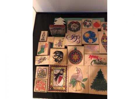 Christmas Rubber Stamps for art projects