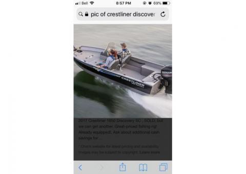 2019 Crestliner Discovery 1650SC