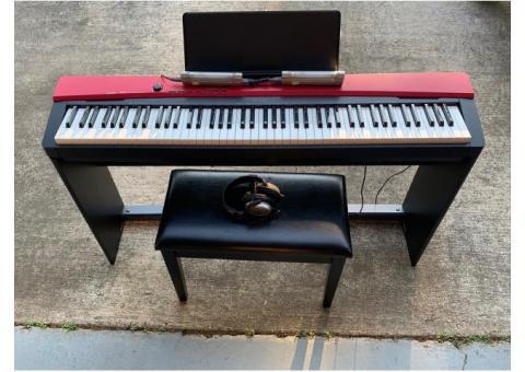 Casio Privia px-160 piano with accessories