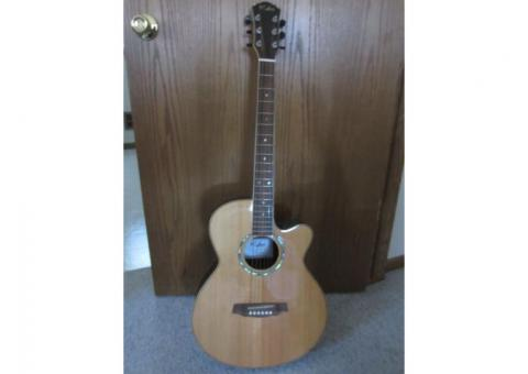 Kalos Grand Concert Style Acoustic/Electric Guitar